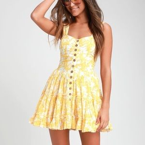 Free People yellow dress
